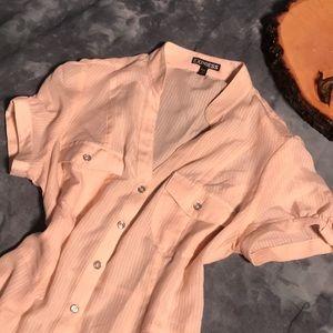 Express Short Sleeve Button Down Shirt